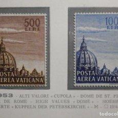 Sellos: POSTE VATICANE IVERT & TELLIER Nº 22 Y 23 - AÑO 1953 - AEREOS -. Lote 194096850