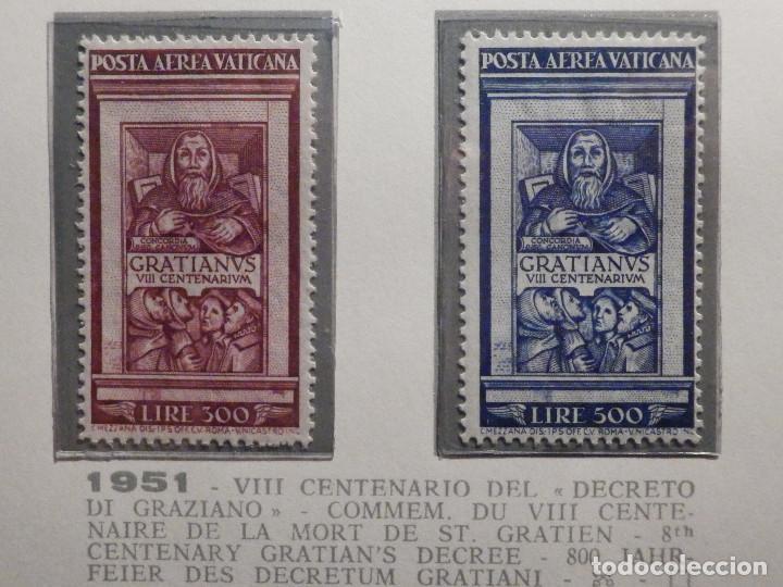 POSTE VATICANE IVERT & TELLIER Nº 20 Y 21 - AÑO 1951 - AEREOS - NUEVOS (Sellos - Extranjero - Europa - Vaticano)