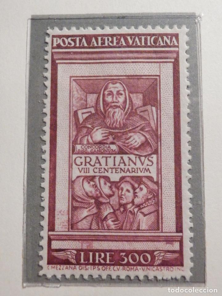 Sellos: POSTE VATICANE IVERT & TELLIER Nº 20 y 21 - AÑO 1951 - Aereos - Nuevos - Foto 2 - 194096891