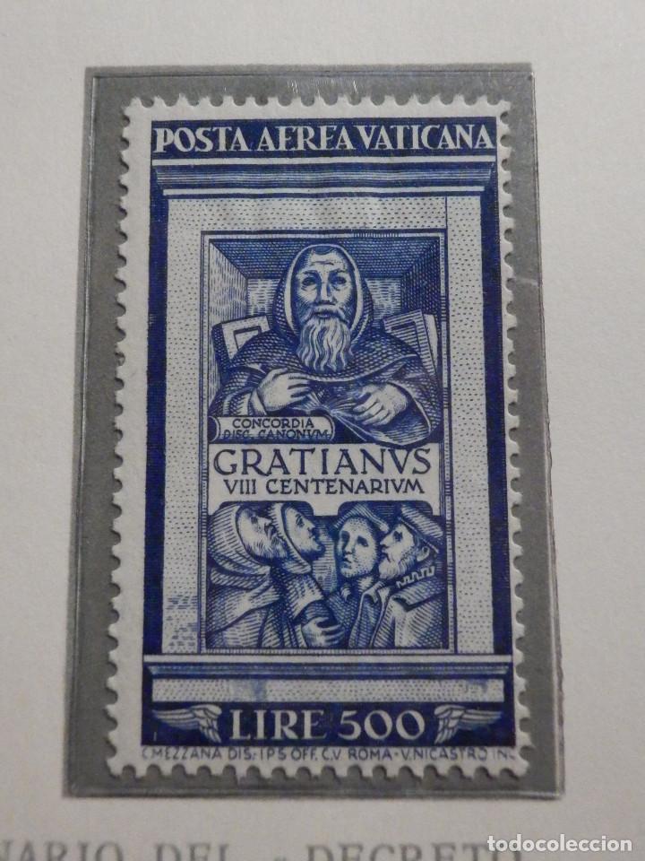 Sellos: POSTE VATICANE IVERT & TELLIER Nº 20 y 21 - AÑO 1951 - Aereos - Nuevos - Foto 3 - 194096891