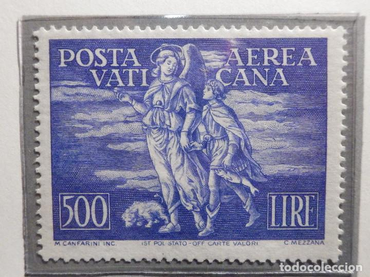 Sellos: POSTE VATICANE IVERT & TELLIER Nº 16 y 17 - AÑO 1948 - Aereos - Nuevos - Serie completa - Foto 3 - 194096972