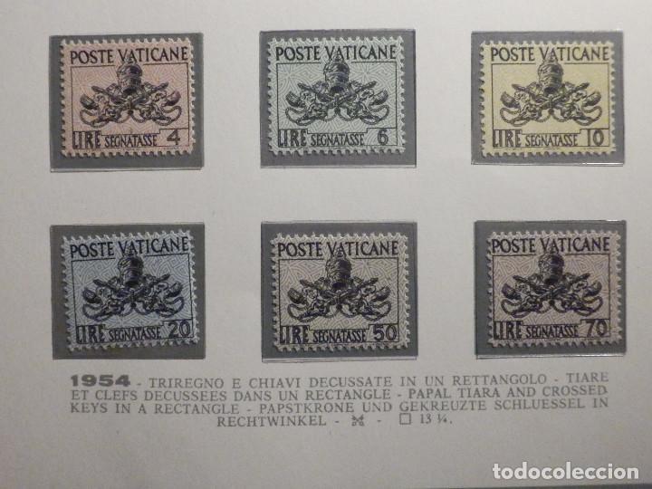 POSTE VATICANE, TIMBRE TAXE TASAS, SEGNATASSE. IVERT & TELLIER Nº 13 AL 18 AÑO 1954. SERIE COMPLETA. (Sellos - Extranjero - Europa - Vaticano)