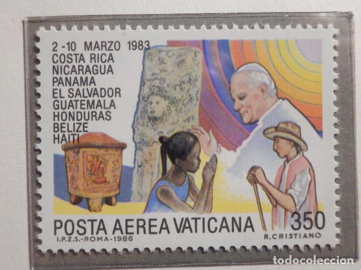 Sellos: POSTE VATICANE AEREO IVERT & TELLIER Nº 75 al 82 - AÑO 1986 - Viajes Juan Pablo II - SERIE COMPLETA - Foto 2 - 194355398