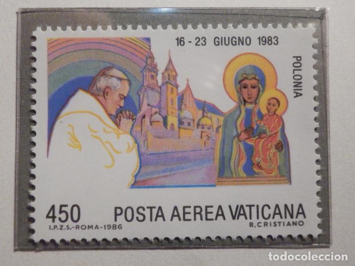 Sellos: POSTE VATICANE AEREO IVERT & TELLIER Nº 75 al 82 - AÑO 1986 - Viajes Juan Pablo II - SERIE COMPLETA - Foto 3 - 194355398