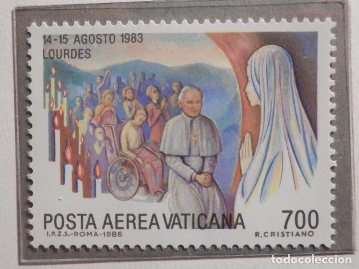 Sellos: POSTE VATICANE AEREO IVERT & TELLIER Nº 75 al 82 - AÑO 1986 - Viajes Juan Pablo II - SERIE COMPLETA - Foto 4 - 194355398