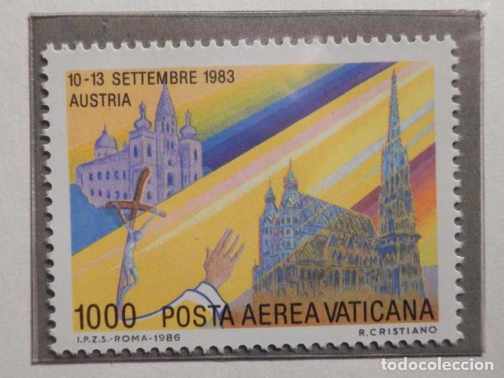 Sellos: POSTE VATICANE AEREO IVERT & TELLIER Nº 75 al 82 - AÑO 1986 - Viajes Juan Pablo II - SERIE COMPLETA - Foto 5 - 194355398