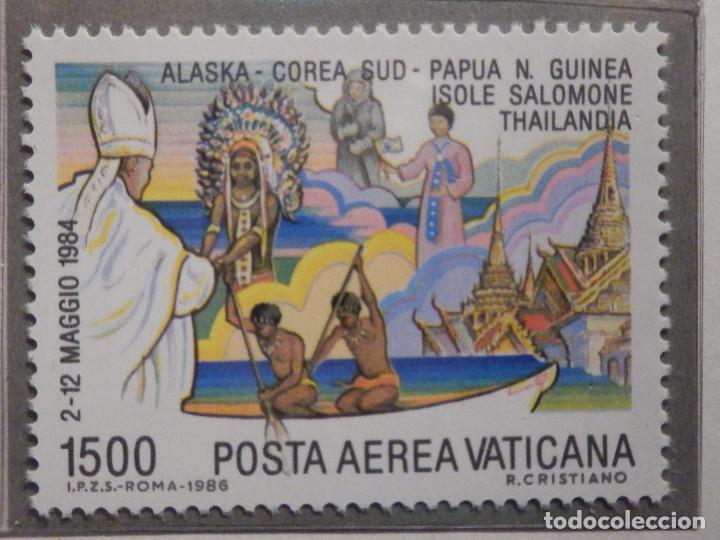 Sellos: POSTE VATICANE AEREO IVERT & TELLIER Nº 75 al 82 - AÑO 1986 - Viajes Juan Pablo II - SERIE COMPLETA - Foto 6 - 194355398
