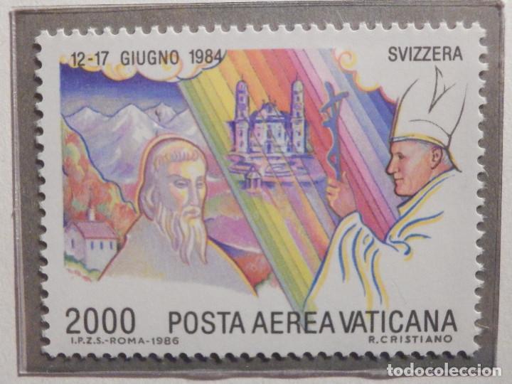 Sellos: POSTE VATICANE AEREO IVERT & TELLIER Nº 75 al 82 - AÑO 1986 - Viajes Juan Pablo II - SERIE COMPLETA - Foto 7 - 194355398