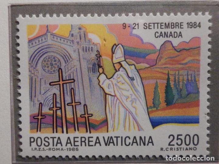 Sellos: POSTE VATICANE AEREO IVERT & TELLIER Nº 75 al 82 - AÑO 1986 - Viajes Juan Pablo II - SERIE COMPLETA - Foto 8 - 194355398