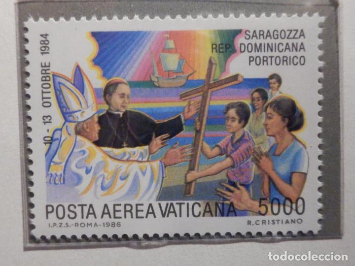 Sellos: POSTE VATICANE AEREO IVERT & TELLIER Nº 75 al 82 - AÑO 1986 - Viajes Juan Pablo II - SERIE COMPLETA - Foto 9 - 194355398