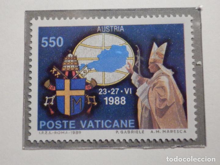 Sellos: POSTE VATICANE IVERT & TELLIER Nº 867 AL 871- AÑO 1989 - VIAJES JUAN PABLO II - SERIE COMPLETA - Foto 3 - 194356722
