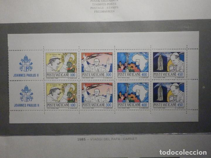 POSTE VATICANE IVERT & TELLIER Nº C-756 CARNET AÑO 1985 - VIAJES JUAN PABLO II - SERIE COMPLETA (Sellos - Extranjero - Europa - Vaticano)