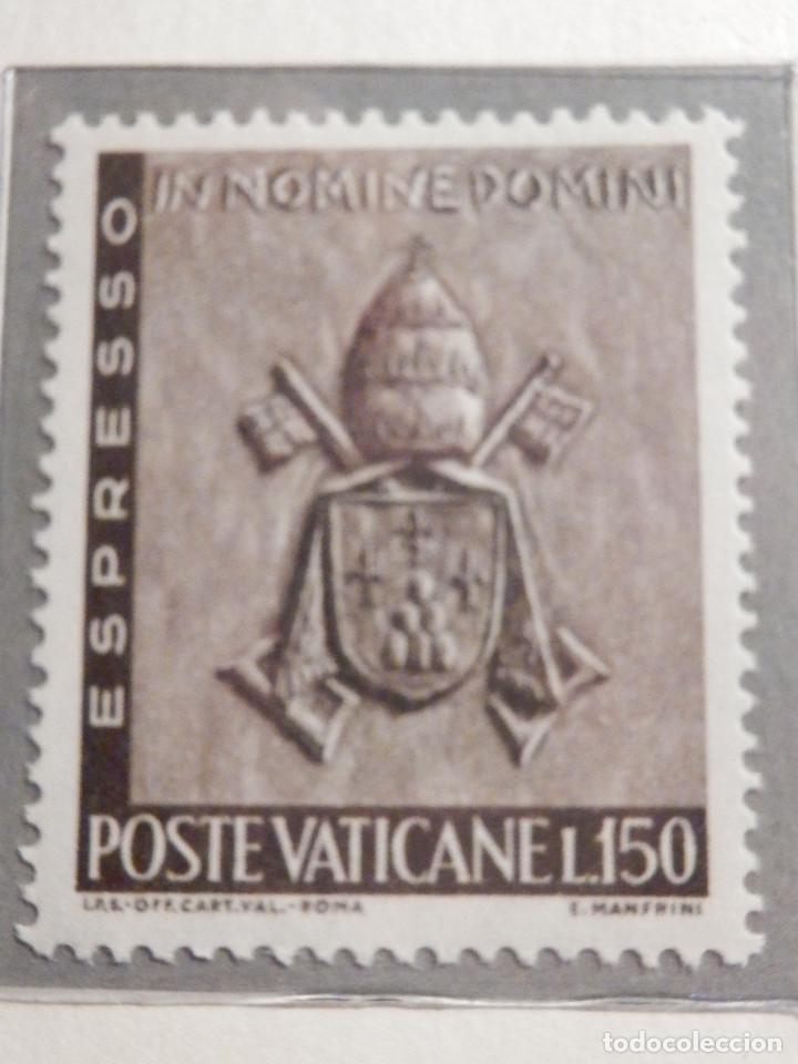 Sellos: POSTE VATICANE, ESPRESSO - EXPRESS. IVERT & TELLIER Nº 17 Y 18 - AÑO 1966. SERIE COMPLETA. - Foto 2 - 194357595