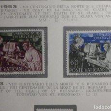 Sellos: POSTE VATICANE, POSTAL . IVERT & TELLIER Nº 189 Y 190 - AÑO 1953. SERIE COMPLETA.. Lote 194357643