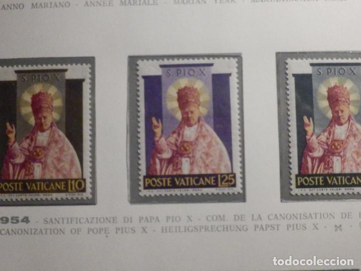 POSTE VATICANE, POSTAL . IVERT & TELLIER Nº 200 AL 202 - AÑO 1954. SERIE COMPLETA. (Sellos - Extranjero - Europa - Vaticano)