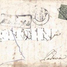 Sellos: VATICANO. ESTADO DE LA IGLESIA. CARTA CON SELLO DE 2B. AÑO 1857. LUJO... Lote 194858773
