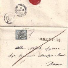 Sellos: VATICANO. ESTADO DE LA IGLESIA. FRONTAL CON SELLO DE 2B. LUJO... Lote 194859567