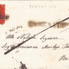 Sellos: VATICANO. ESTADO DE LA IGLESIA. FRONTAL CON SELLO DE 10 CEN. 1869. LUJO... Lote 194862342