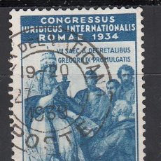 Sellos: VATICANO, 1935 YVERT Nº 71 , CONGRESO JURÍDICO INTERNACIONAL, ROMA. Lote 196231296