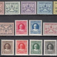 Sellos: VATICANO, 1929 YVERT Nº 26 / 38 /**/ CONCILIACIÓN, PAPA PIO XI, SIN FIJASELLOS.. Lote 196231771