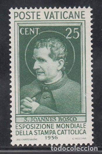 VATICANO, 1933 YVERT Nº 74 /**/ EXPOSICIÓN MUNDIAL DE LA PRENSA CATÓLICA, SAN JUAN BOSCO (Sellos - Extranjero - Europa - Vaticano)