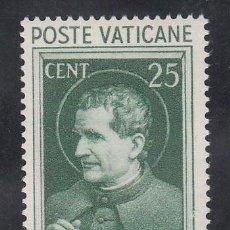 Sellos: VATICANO, 1933 YVERT Nº 74 /**/ EXPOSICIÓN MUNDIAL DE LA PRENSA CATÓLICA, SAN JUAN BOSCO. Lote 196232861