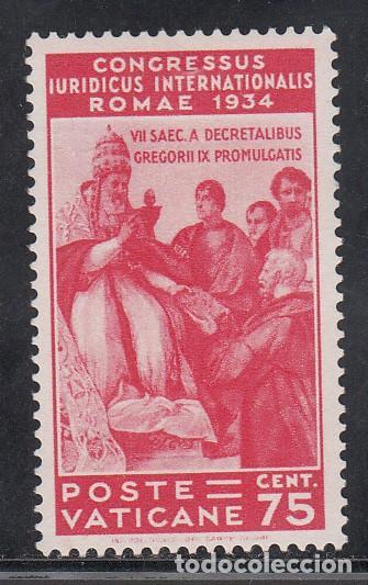 VATICANO, 1935 YVERT Nº 69 /**/, CONGRESO JURÍDICO INTERNACIONAL, ROMA, SIN FIJASELLOS (Sellos - Extranjero - Europa - Vaticano)