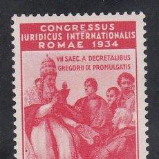 Sellos: VATICANO, 1935 YVERT Nº 69 /**/, CONGRESO JURÍDICO INTERNACIONAL, ROMA, SIN FIJASELLOS. Lote 196234300