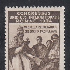 Sellos: VATICANO, 1935 YVERT Nº 70 /**/, CONGRESO JURÍDICO INTERNACIONAL, ROMA, SIN FIJASELLOS . Lote 196234406