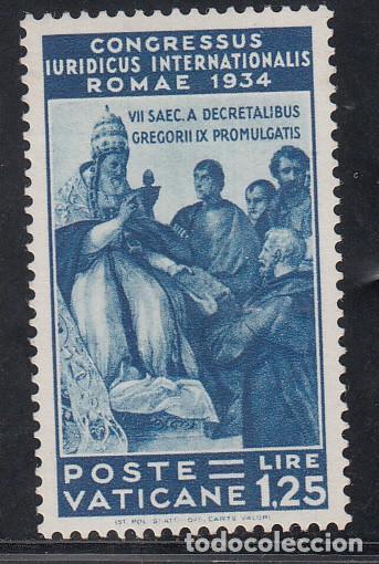 VATICANO, 1935 YVERT Nº 71 /**/, CONGRESO JURÍDICO INTERNACIONAL, ROMA, SIN FIJASELLOS (Sellos - Extranjero - Europa - Vaticano)