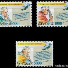 Sellos: SELLOS VATICANO 1993 Y&T 963/65** PAPA JUAN PABLO II. Lote 199169740