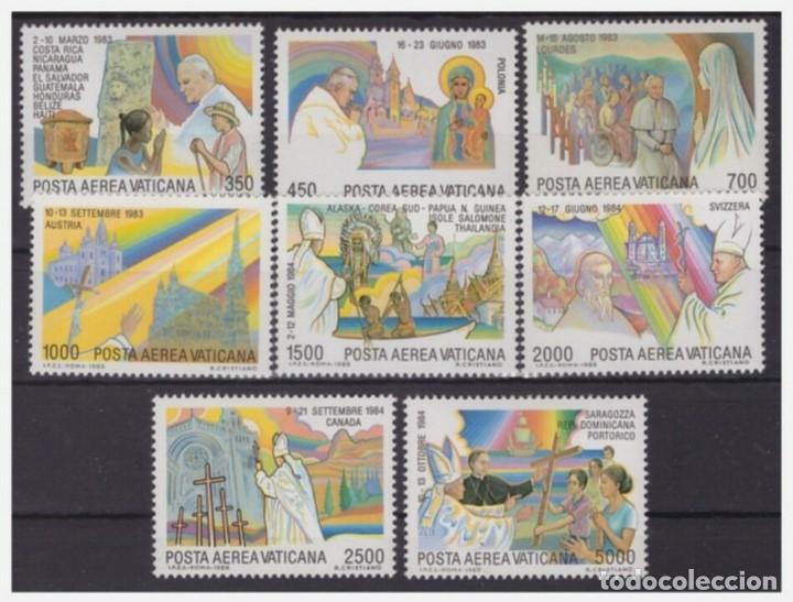 SELLOS VATICANO 1986 Y&T 75/82** AEREOS PAPA JUAN PABLO II (Sellos - Extranjero - Europa - Vaticano)