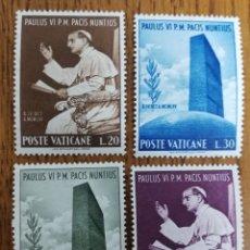 Sellos: VATICANO N°483/86MNH,AÑO 1965 (FOTOGRAFÍA REAL). Lote 199317511
