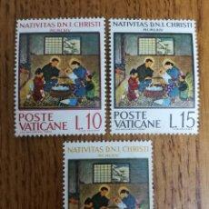 Sellos: VATICANO NAVIDAD 1964 MNH (FOTOGRAFÍA REAL). Lote 199321078