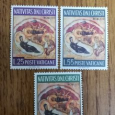 Sellos: VATICANO N°476/78 MNH, NAVIDAD 1967 (FOTOGRAFÍA REAL). Lote 199323230