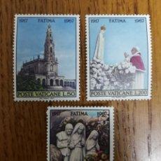 Timbres: VATICANO, VIRGEN DE FÁTIMA 1967,MNH (FOTOGRAFÍA REAL). Lote 199324745