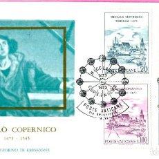 Sellos: VATICANO 1973 SOBRE PRIMER DIA V CENTENARIO DEL NACIMIENTO DE NICOLAS COPERNICO. Lote 201119868