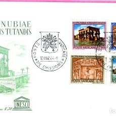 Sellos: SOBRE VATICANO 397/400** - AÑO 1964 - ARQUEOLOGIA - PROTECCION DE LOS MONUMENTOS DE NUBIA. Lote 201120250