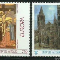 Sellos: VATICANO, N°959/60 MNH, EUROPA CEPT 1993, ARTE CONTEMPORÁNEO (FOTOGRAFÍA REAL). Lote 203287662