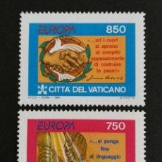 Timbres: VATICANO, EUROPA CEPT 1995 MNH, PAZ Y LIBERTAD (FOTOGRAFÍA REAL). Lote 203382862