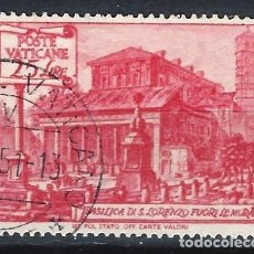 Selos: VATICANO 1949 - IGLESIAS Y BASÍLICAS, SAN LORENZO EXTRAMUROS - SELLO USADO. Lote 203418348