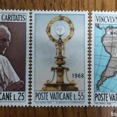Sellos: VATICANO, CARIDAD 1968 MNH (FOTOGRAFÍA REAL). Lote 203484371