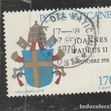 Sellos: CIUDAD DEL VATICANO 1979 - YVERT NRO. 666 - USADO. Lote 204772275