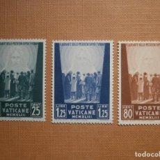 Sellos: POSTE VATICANE - VATICANO AÑO 1942 PAPAS - EDIFIL 95, 96, 97. Lote 205271571