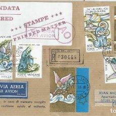 Sellos: 1989. VATICANO/VATICAN. SOBRE CIRCULADO CERTIFICADO. RELIGION. VIRGEN MARÍA/VIRGIN MARY. NAVIDAD.. Lote 205303902