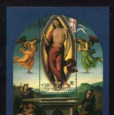 Timbres: VATICANO HB 27** - AÑO 2005 - PINTURA - LA RESURRECCION DE LE PERUGIN. Lote 206801135