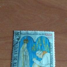 Sellos: VATICANO 2001 USADO. FACIAL 5000 LIRAS (2,58 €). PEREGRINACIONES DEL SANTO PADRE.. Lote 209967287