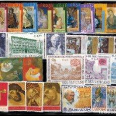 Sellos: AÑO COMPLETO SELLOS DE VATICANO DEL 2002. Lote 210720606
