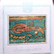 Sellos: VATICANO HB VENEZIA - 1972. MAPA, SAN MARCOS Y BARCO. 1972. SELLOS USADOS Y NUMERACIÓN YVERT.. Lote 211260974