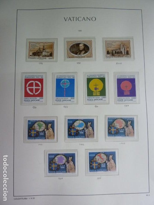 VATICANO 12 SELLOS DE 1989. NUEVOS (Sellos - Extranjero - Europa - Vaticano)
